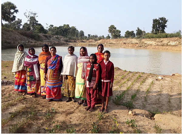 100 villagers dug this reservoir by hand in 90 working days.