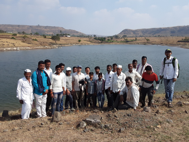 Reservoir in the village of Garavadi, Maharashtra where they constructed water harvesting structures over nearly 2,500 acres, restoring their water table in just one season of rainfall!