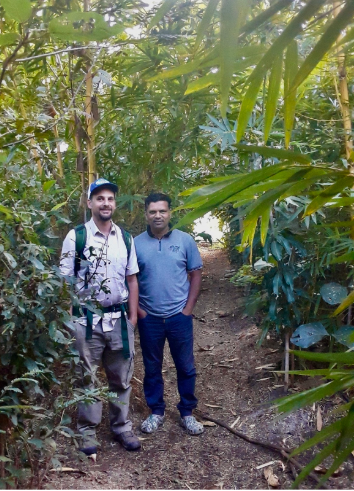 With the Paani Foundation's Dr. Avinash Pol in one of that organization's reforestation test plots.